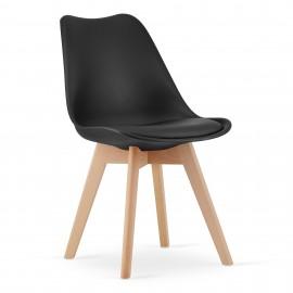 4-ių kėdžių komplektas MARK, juodas
