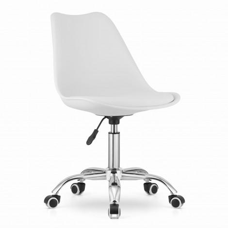 Krzesło obrotowe ALBA - białe