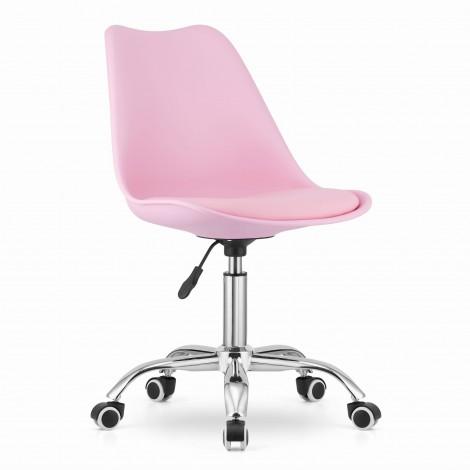 Krzesło obrotowe ALBA - róż