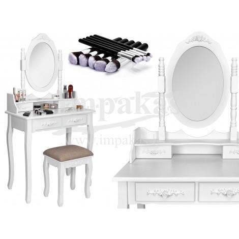 """Kosmetinis makiažo staliukas stalas su taburete """"NiceA"""""""