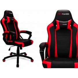 """Žaidimų kėdė """"Atilla"""" (populiari) raudona, balta, pilka"""