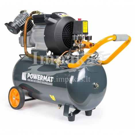 """Oro kompresorius 2 cilindrų """"PowerMat"""" 50L"""