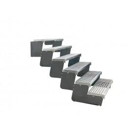 6-ių pakopų Moduliniai reguliuojami laiptai - 80cm