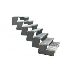 7-ių pakopų Moduliniai reguliuojami laiptai - 80cm