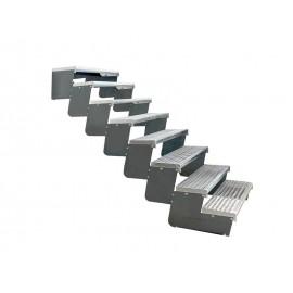8-ių pakopų Moduliniai reguliuojami laiptai - 80cm
