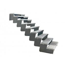 9-ių pakopų Moduliniai reguliuojami laiptai - 80cm