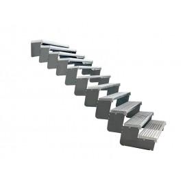 11-os pakopų Moduliniai reguliuojami laiptai - 80cm