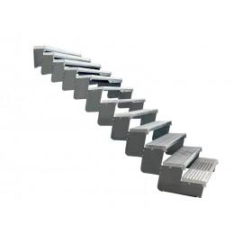 12-os pakopų Moduliniai reguliuojami laiptai - 100cm