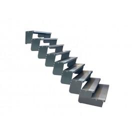 9-ių pakopų Moduliniai reguliuojami laiptai - 90cm