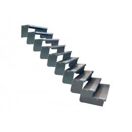 10-ies pakopų Moduliniai reguliuojami laiptai - 90cm
