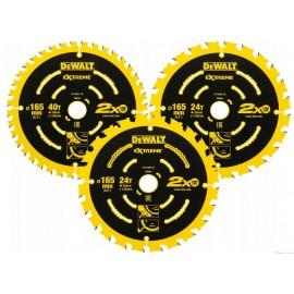 DeWalt 3vnt. diskų komplektas 165mm, DT10397