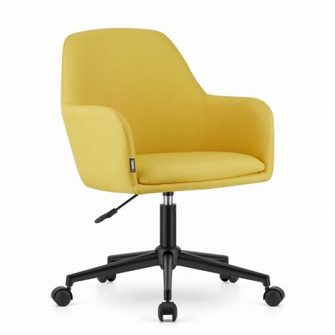 Fotel obrotowy NARNI - żółty materiał