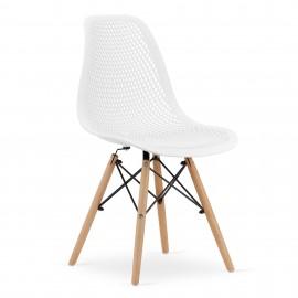 4-ių kėdžių komplektas MAR, baltas