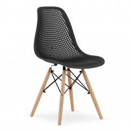 4-ių kėdžių komplektas MAR, juodas