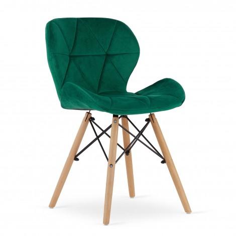 Krzesło LAGO Aksamit - zielone x 4